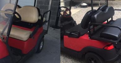 Golf Car Seat Refinishing