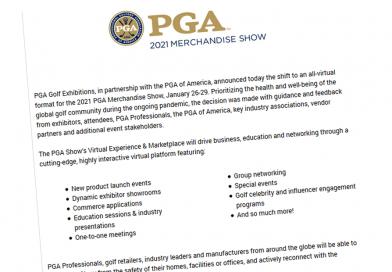 Important Announcement Regarding The 2021 PGA Merchandise Show